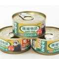 フェレットの体内に入った毛の排出をコントロール「ニチドウ 繊維物語 フェレット用ササミ缶 80g」